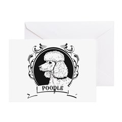 Poodle Greeting Card
