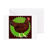 Rhode Island Red Hen2 Greeting Cards (Pk of 10)
