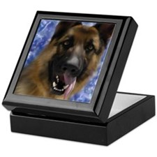 Cute German shepherd dog men Keepsake Box