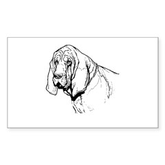 Bloodhound Rectangle Sticker