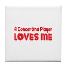A Concertina Player Loves Me Tile Coaster