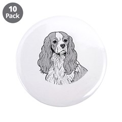 "King Charles 3.5"" Button (10 pack)"