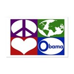 Peace, Earth, Love, Obama Poster