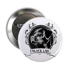 "Black Lab 2.25"" Button (10 pack)"