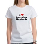I Love Australian Shepherds Women's T-Shirt