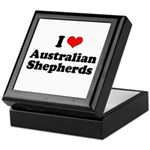 I Love Australian Shepherds Keepsake Box
