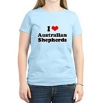 I Love Australian Shepherds Women's Light T-Shirt