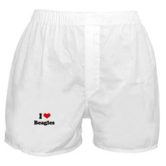 I Love Beagles Boxer Shorts