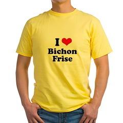 I Love Bichon Frise Yellow T-Shirt