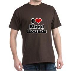 I Love Blood Hounds Dark T-Shirt