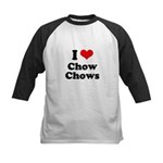 I Love Chow Chows Kids Baseball Jersey