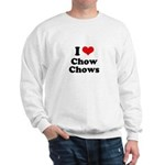 I Love Chow Chows Sweatshirt