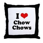 I Love Chow Chows Throw Pillow