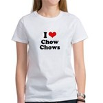I Love Chow Chows Women's T-Shirt