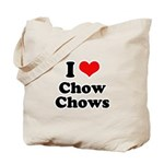 I Love Chow Chows Tote Bag