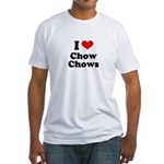 I Love Chow Chows Fitted T-Shirt