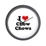 I Love Chow Chows Wall Clock