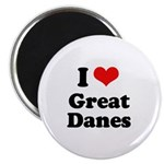 I Love Great Danes Magnet