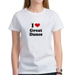 I Love Great Danes Women's T-Shirt