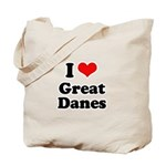 I Love Great Danes Tote Bag