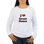 I Love Great Danes Women's Long Sleeve T-Shirt
