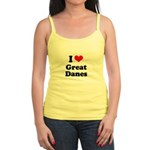 I Love Great Danes Jr. Spaghetti Tank