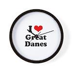 I Love Great Danes Wall Clock