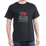 I Love Great Danes Dark T-Shirt