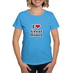 I Love Great Danes Women's Dark T-Shirt