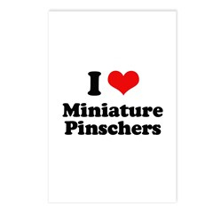 I Love Miniature Pinschers Postcards (Package of 8