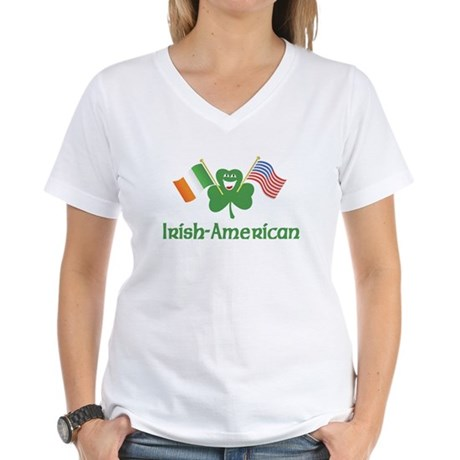 Irish American Women's V-Neck T-Shirt