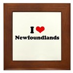 I Love Newfoundlands Framed Tile