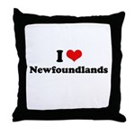 I Love Newfoundlands Throw Pillow