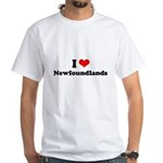 I Love Newfoundlands White T-Shirt