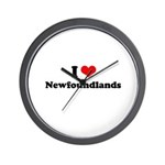 I Love Newfoundlands Wall Clock