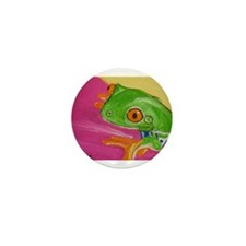 Green Frog Mini Button (100 pack)