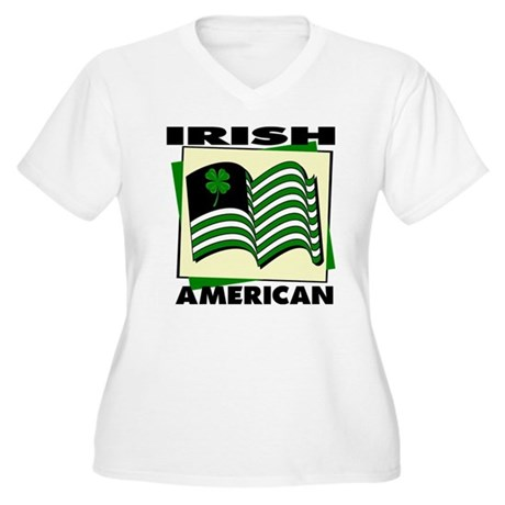 Irish American Women's Plus Size V-Neck T-Shirt