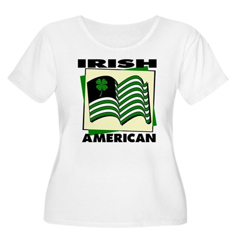 Irish American Women's Plus Size Scoop Neck T-Shir