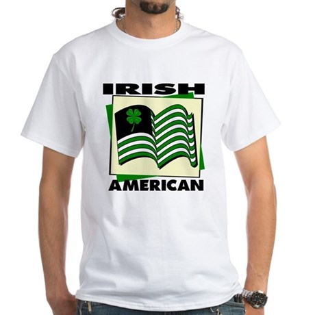 Irish American White T-Shirt
