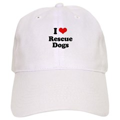 I Love Rescue Dogs Cap