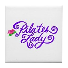 Pilates Lady Tile Coaster