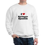 I Love Springer Spaniels Sweatshirt