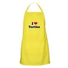 I Love Turtles BBQ Apron
