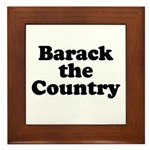 Barack the country Framed Tile