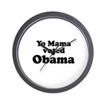 Yo mama voted Obama Wall Clock