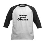 Yo mama voted Obama Kids Baseball Jersey