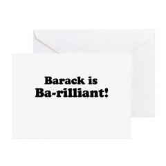Barack is Barilliant Greeting Cards (Pk of 20)