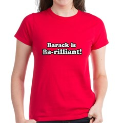 Barack is Barilliant Women's Dark T-Shirt