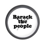 Barack the People Wall Clock
