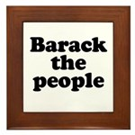 Barack the People Framed Tile